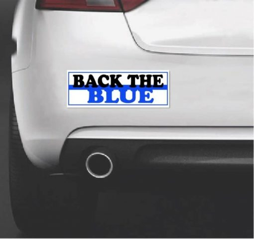 Thin Blue Line Back The Blue Bumper Sticker