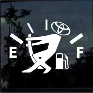 Toyota Funny Gas Gauge Decal sticker