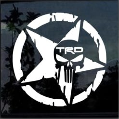 Toyota TRD Punisher Star Decal Sticker