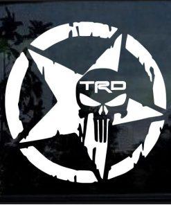 Toyota TRD Punisher Star Decal Sticker