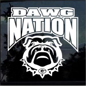 UGA Dawg Nation decal sticker