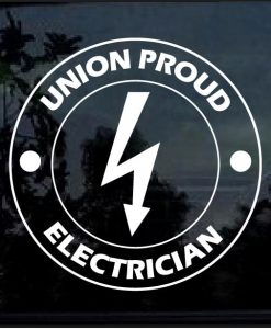 Union Proud Electrician Decal Sticker