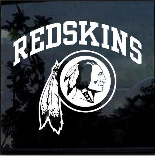 Vinyl decal sticker Redskin