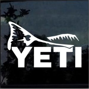 Yeti fish Decal sticker