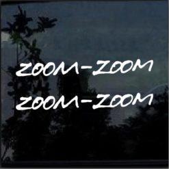Zoom Zoom Mazda Miata Protege RX7 MX5 decal sticker