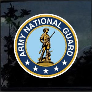Army National Guard full color decal sticker