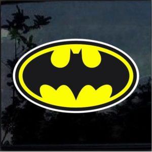 Batman Yellow and Black Vinyl Decal Sticker