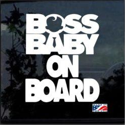 Boss Baby on Board Decal Sticker