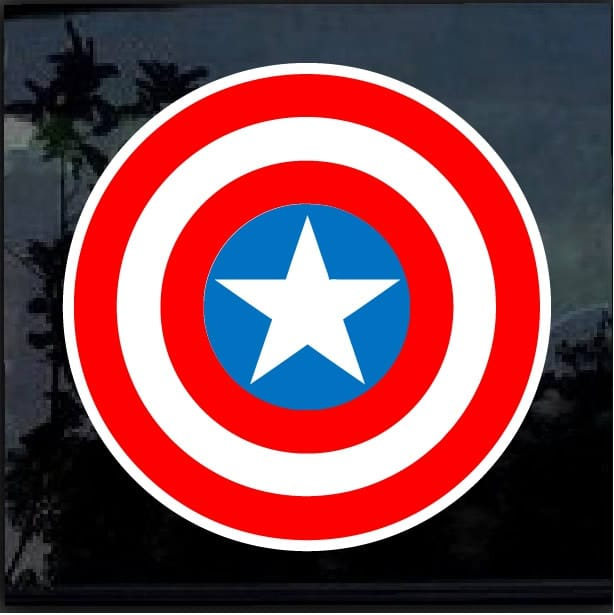 Captain America Full Color Decal Sticker Custom Sticker Shop