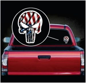 Chris Kyle Punisher American Flag Color Decal Sticker