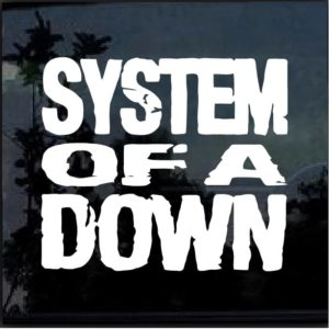 System of Down Band Decal Sticker