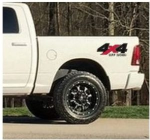 4×4 Stickers 2 color – For Ford Chevy Dodge Toyota – 4×4 Decals