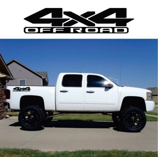 4x4 Off Road decal sticker set of 2
