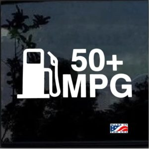 50 mpg hybrid prius EV TDI Decal Sticker