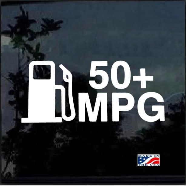 50 Mpg Hybrid Prius Ev Tdi Decal Sticker