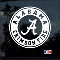 Alabama Crimson Tide Decal Sticker round