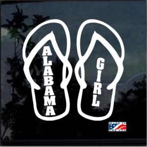 Alabama Girl Flip Flops Decal Sticker