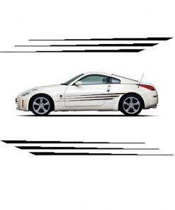 Body side Decal Sticker Rally Stripe set 6.5 x 66 a8