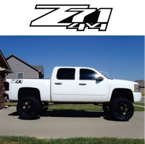 Chevrolet Z71 z-71 4x4 decal sticker set of 2