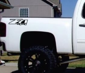 Chevrolet Z71 z-71 4x4 decal sticker set of 2