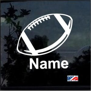 Custom Football Decal With Your Kids Name