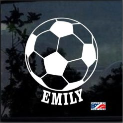 Custom Soccer Ball Your Kids Name decal sticker