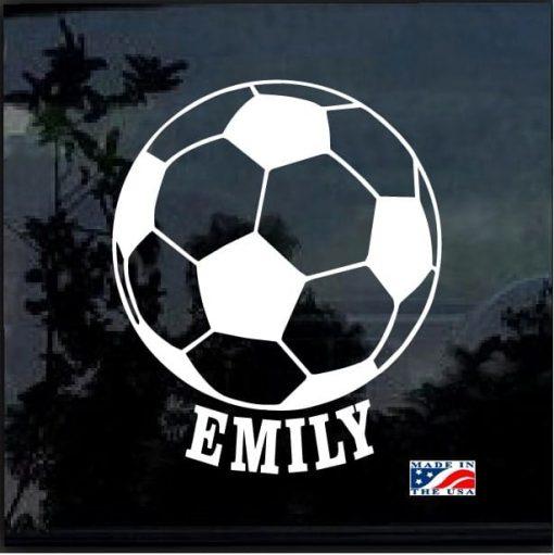 Custom Soccer Ball Your Kids Name decal sticker
