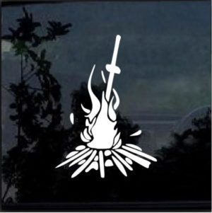 Dark Souls Bonfire Window Decal Sticker