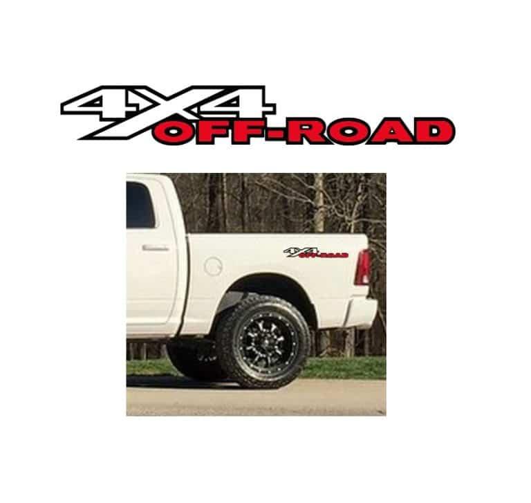 4x4 Off Road >> Dodge Ram 4x4 Off Road Sticker Set 2 Color Truck Decals