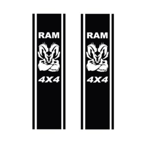 Dodge Ram Head Muscle 4x4 - set of 2 Bedside Stripes