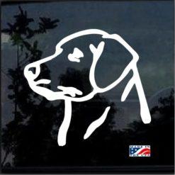 Lab Labrador Window Decal Sticker