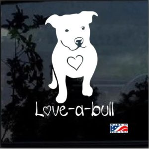 Love a Pitbull decal sticker
