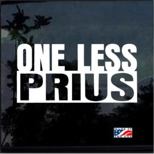 One Less Prius Decal Sticker