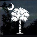 South Carolina Palmetto Tree  Window Decal Sticker