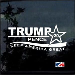 Donald Trump Pence 2020 Decal Sticker