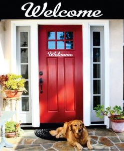 Welcome Front Door Decal Sticker