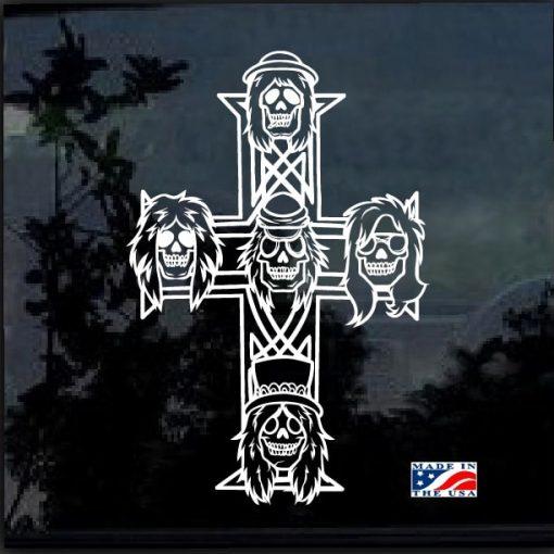 Guns n Roses Appetite for destruction cross decal sticker