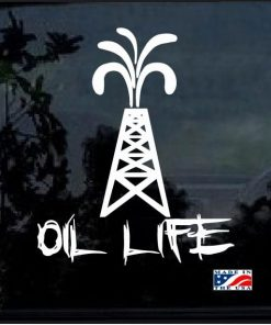 oil life pump jack roughneck decal sticker