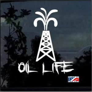 oil life pump jack roughneck decal sticker