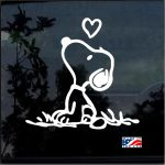 Snoopy With Heart Window Decal Sticker