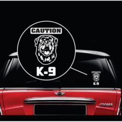 Caution k-9 Rottweiler Decal Sticker