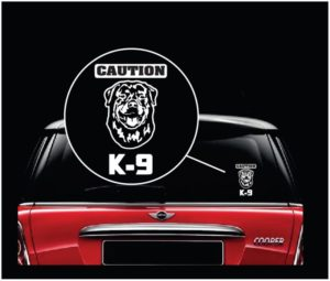Caution k-9 Rottweiler Decal Sticker