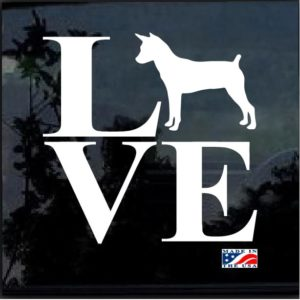 Love My Rat Terrier Window Decal Sticker