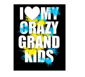 I love my Crazy Grandkids Full Color Decal Sticker
