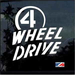 4 Wheel Drive Window Decal Sticker