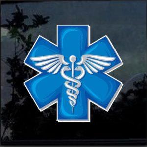 Caduceus medical EMT Paramedic Full Color Decal Sticker