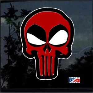 Dead pool Punisher Full Color Decal Sticker
