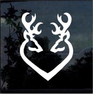Deer heart buck doe Hunting Window Decal Sticker