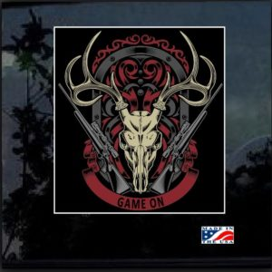 Deer Hunter Skull Rifle Full Color Outdoor Decal Sticker