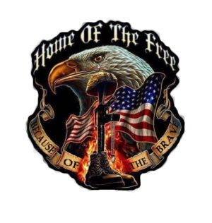 Home of the free Because of the brave Full Color Decal
